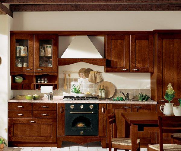 La cucina classica in ciliegio anticato for Cucine in ciliegio moderne