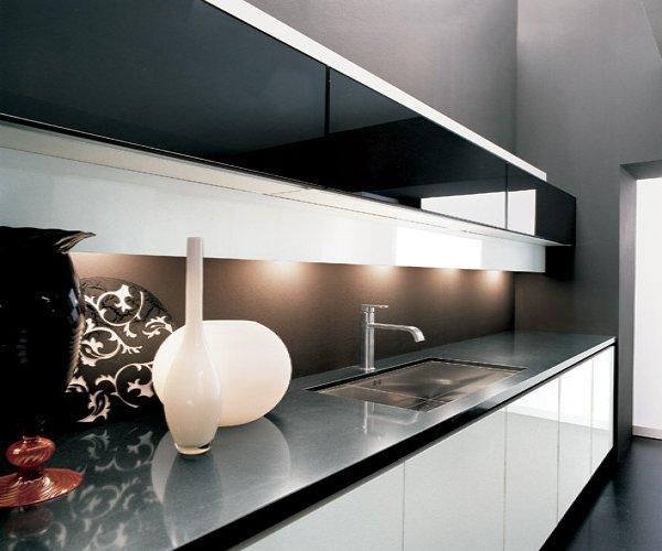 La cucina senza maniglia versatile per gli ambienti più moderni e ...